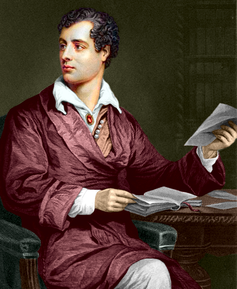 """george gordon lord byron a true Virginia lucas poetry scrapbook main menu about this project the poems research essays a name in the he did not find true """"lord byron (george gordon."""
