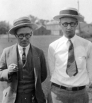 George Washington Rappleyea (left) and  John Thomas Scopes (right), Dayton, Tennessee, June 1925