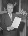Diefenbaker with the Canadian Bill of Rights.