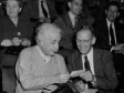 Групповое фото (Albert Einstein and Rudolf Ladenburg, Princeton Symposium, on the occasion of Ladenburg`s retirement, May 28, 1950)