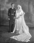 Lord and Lady Louis Mountbatten, wedding portrait.