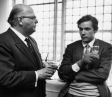 Canadian pianist Glenn Gould with Auatrian conductor Josef Krips during Royal Fesyival Hall